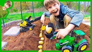 Tractors for Kids Plant Potatoes!