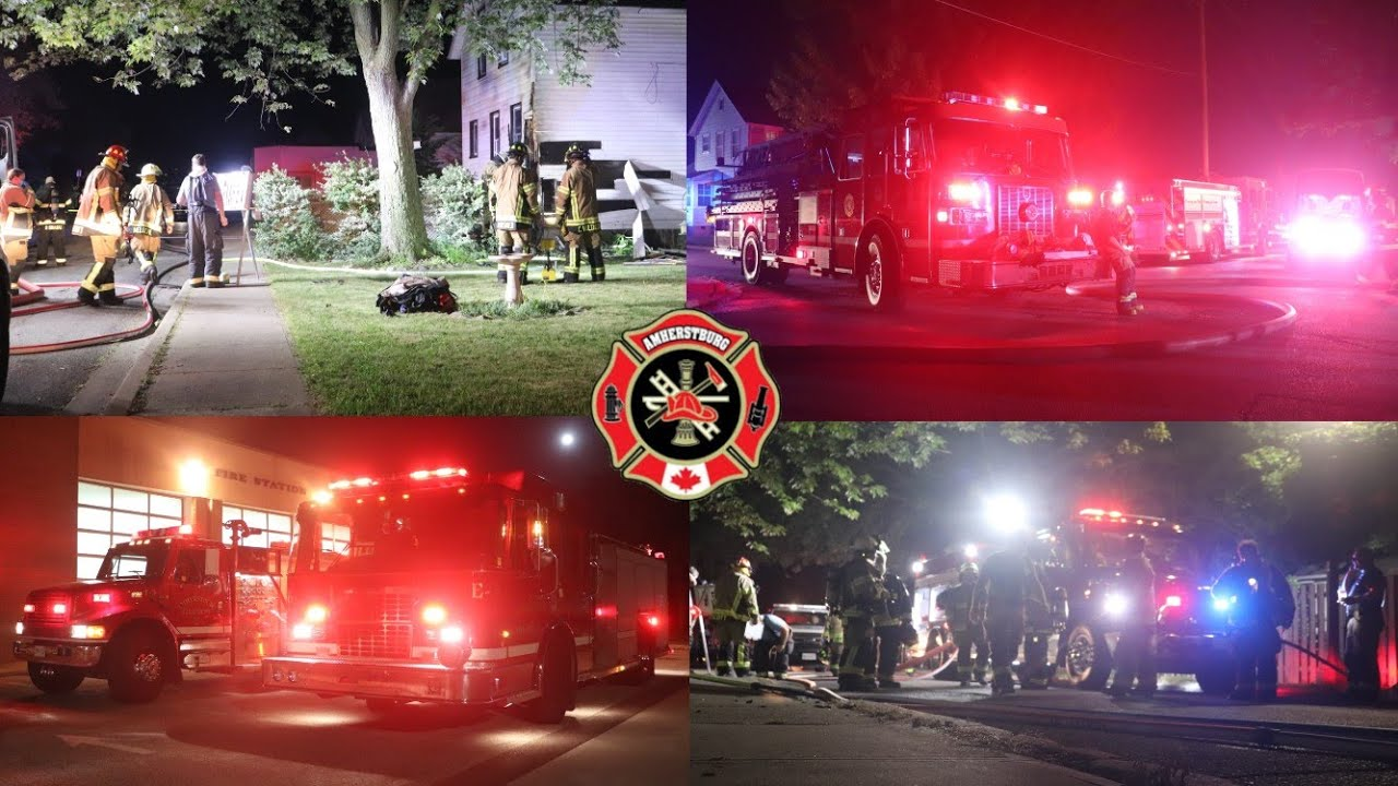 2nd Alarm Structure Fire On Murray St - Amherstburg Fire On Scene