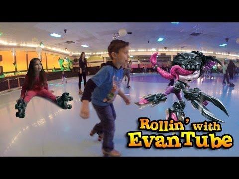 ROLLER SKATING ADVENTURE Falls & Fails with EvanTubeHD!