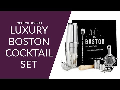 Luxury Boston Cocktail Set - Andrew James