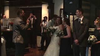"Josh singing ""God gave me you"" to Jordan at the Wedding"