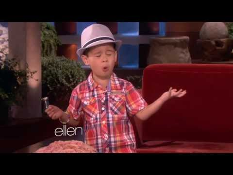 Four year old Kai Sings When I Was Your Man  Ellens show