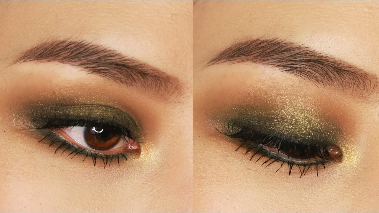 5 minute green smokey eye makeup tutorial for small or hooded 5 minute green smokey eye makeup tutorial for small or hooded eyes youtube baditri Gallery