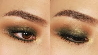 5 Minute Green Smokey Eye Makeup Tutorial | For Small or Hooded Eyes