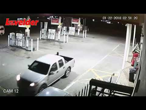 Armed robbery at Shell garage blast safebox with bomb