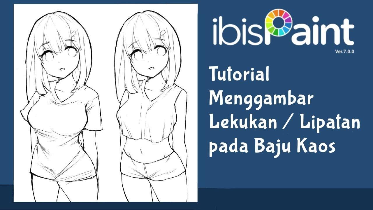 Tutorial Cara Menggambar Lipatan Lekukan Baju Anime Di Ibis Paint X Cara Menggambar Gambar Peri Cantik
