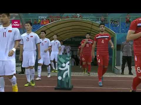 Asian Games 18 Men Football Quarterfinal: Syria Olympic Vs Vietnam Olympic (National Anthem)