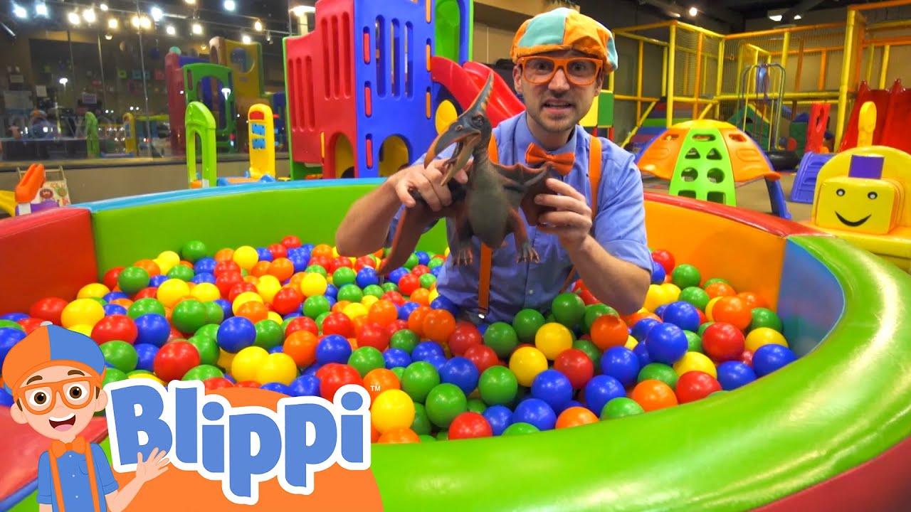 Blippi Visits An Indoor Playground!   Learn with Blippi   Educational Videos for Toddlers