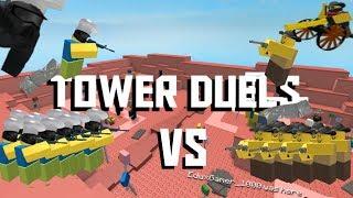JOHN VS COWBOY Tower Duels! [ROBLOX TOWER DEFENSE SIMULATOR]
