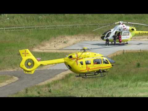 Air ambulance convention at Addenbrooke's Hospital