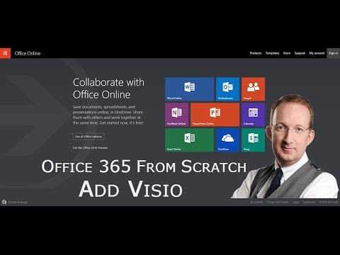how to add visio to office 365