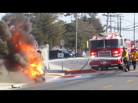 Firefighters Battle HUGE Sewer Blaze! Fire Trucks Responding, On Scene. Mp3