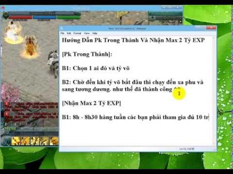 [HD] PK Trong Thành Và Bug Max EXP Sever Thử Nghiệm VNG - 2014
