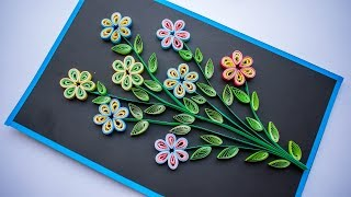 Mothers day - Quilling Flower - How to make Quilling Flowers - Quilling for Beginners - DIY 💚