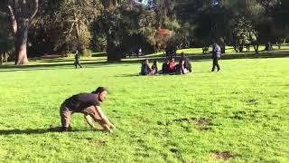 Bull whip battle with Sifu Tim