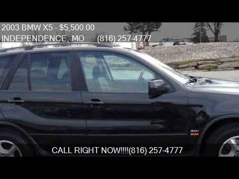 2003 bmw x5 awd 4dr suv for sale in independence mo 64 youtube. Black Bedroom Furniture Sets. Home Design Ideas