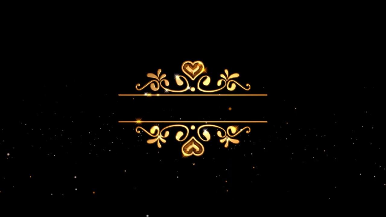 Wedding Intro Video Invitation Background Animation