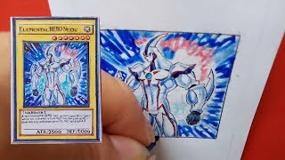 Drawing Yugi-Oh Card | Vẽ bài Yugioh - Elemental HERO Neos | E・HERO ネオス