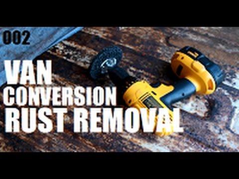 VAN CONVERSION // Removing Rust and Priming Cargo Van