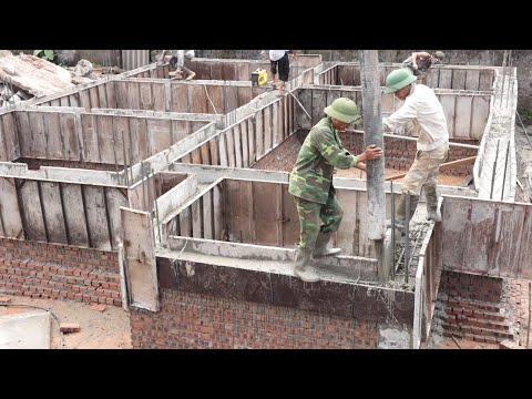 Technology Construction Foundation Beam The Most Solid Using Ready Mixed Concrete