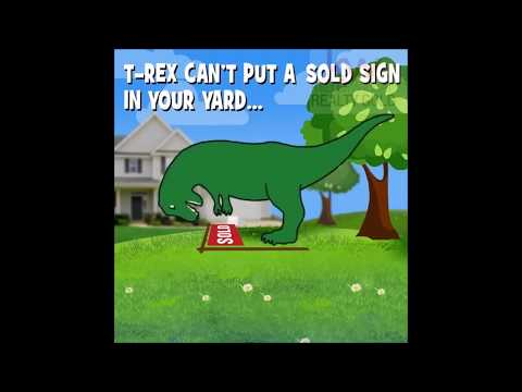 Sold Sign In Your Lawn & Mighty T-Rex - - ☎ Call Valentyna Lew At 732-857-7387 - NJ Real Estate Pro