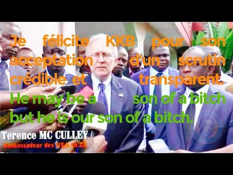 Terence McCulley, ambassador of the USA in Ivory Coast, has no word for political prisoners