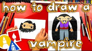 How To Draw A Bat And Vampire (Folding Surprise)