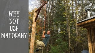 Making a Mahogany  Arm for our Meat Pole
