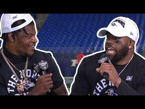 Mark Ingram on Lamar Jackson Thats a WILD DOG!!   TNF Post Game Interview