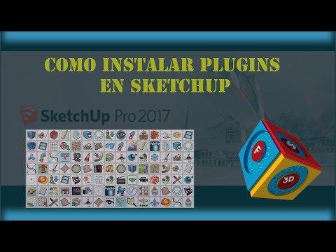 como instalar plugins en sketchup 2017