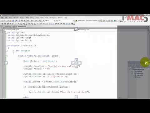 Bài 1 - Thực hành sử dụng Visual Studio 2008 (Học lập trình .NET)