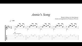 Fingerstyle Guitar - John Denver - Annie