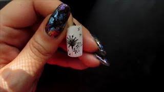 Простой рисунок на ногтях. Одуванчик
