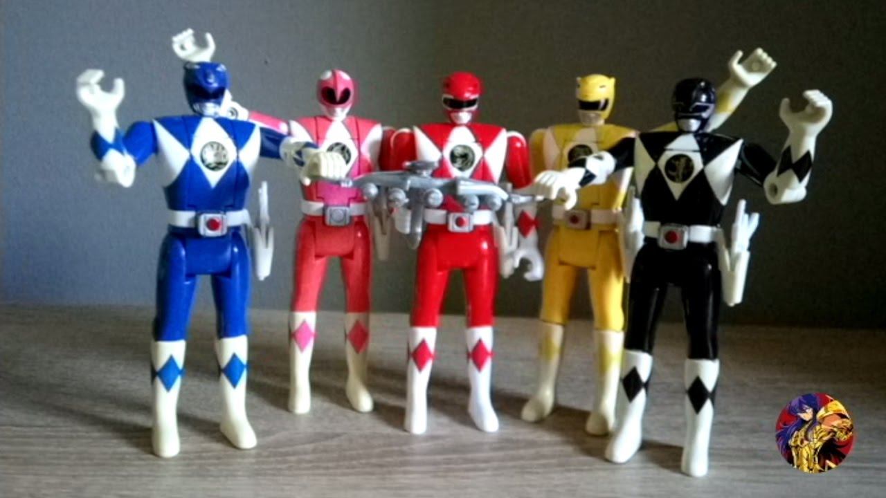 figurines power rangers mighty morphin flip head 1993 youtube. Black Bedroom Furniture Sets. Home Design Ideas