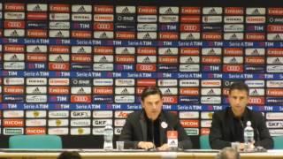 """Montella risponde a un giornalista: """"Dove pensavi arrivasse il Milan con questa rosa?"""