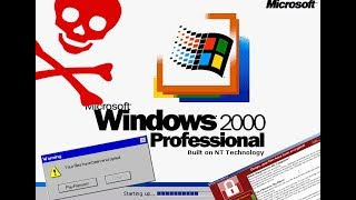 What happens when you run WannaCry.exe on Windows 2000?