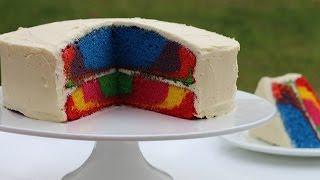 How To Make A Rainbow Marble Cake Recipe
