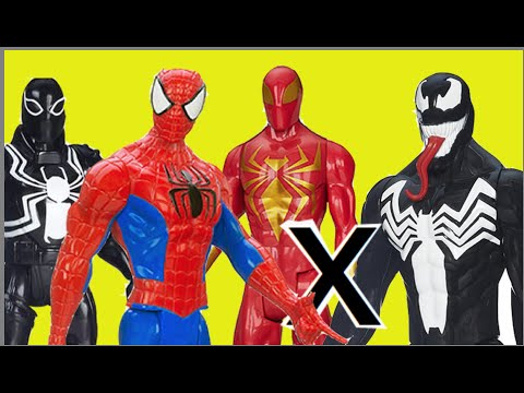 Spider Man Iron Spider Ultimate Future 2099 Homem Aranha Agent Venom X Venom Marvel Toys Kids