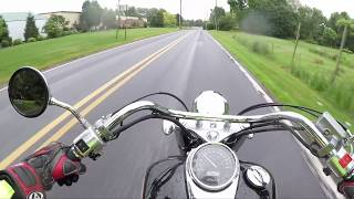 Is Shadow 750 big Enough for a 400lb Man(Highway Run)