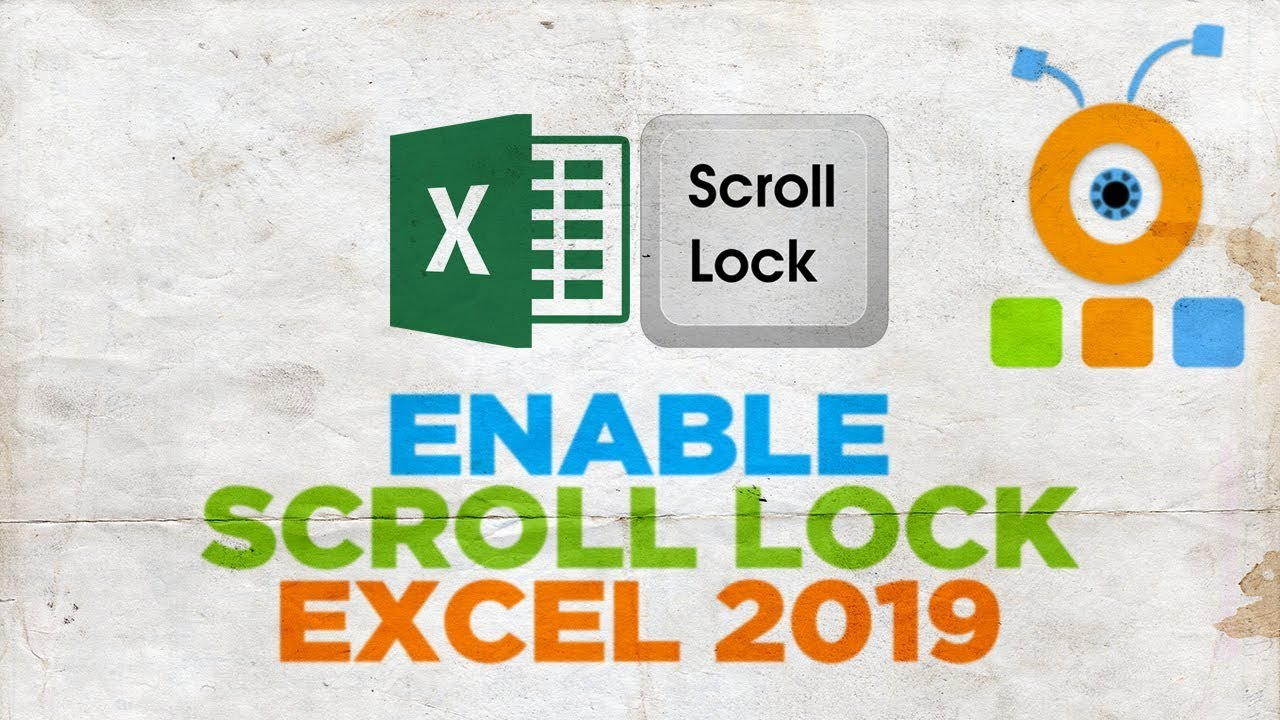 How To Turn On Scroll Lock In Excel 2019 How To Enable Scroll Lock In Excel 2019 Youtube Lock excel spreadsheet from scrolling