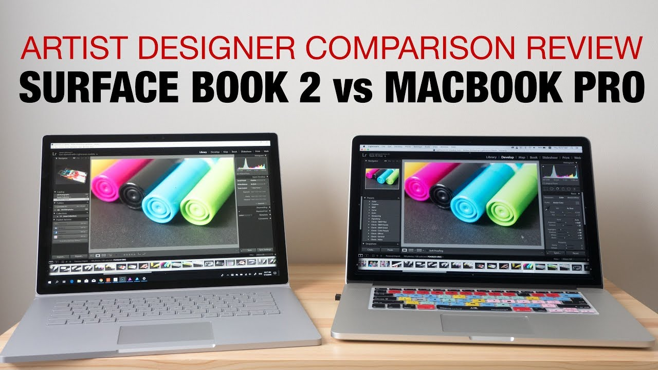 Surface Book 2 Vs Macbook Pro 2015 Artist Designer Review Youtube