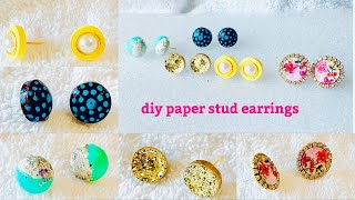 Diy Paper Stud Earrings||Making Unique Stud Earrings With Quilling Paper ||New Model Quilling Studs