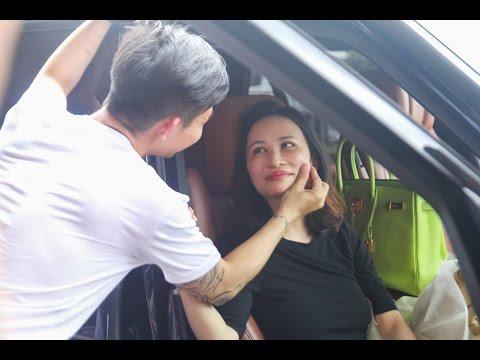Minh Nhựa đón vợ bằng dàn xe sang ở sân bay