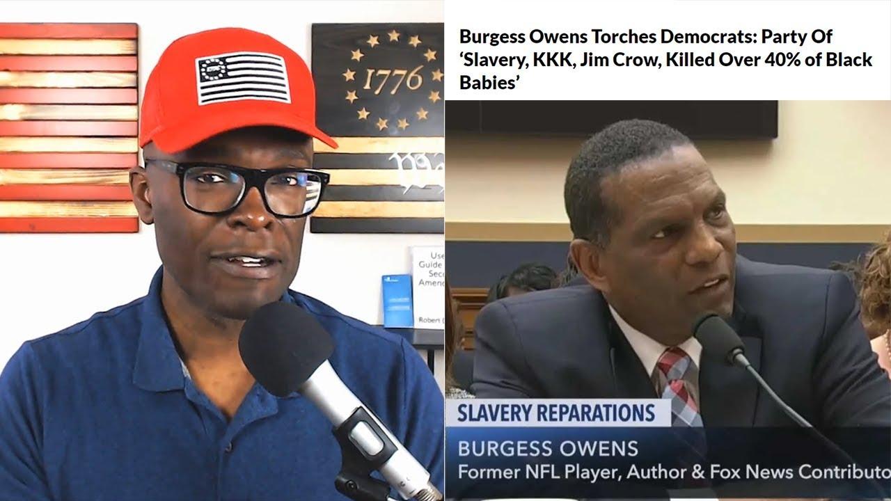 Anthony Brian Logan  Burgess Owens NAILS IT At Congressional Reparations Hearing!