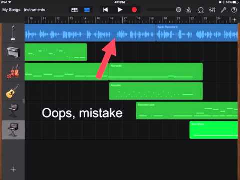 How to split, cut, copy, paste and rename in GarageBand.