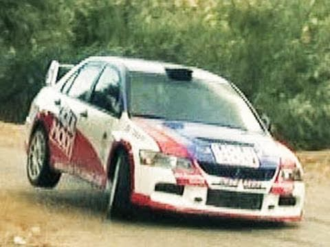 EVO Testing Day - Rally Mitsubishi Lancer EVO in action - YouTube