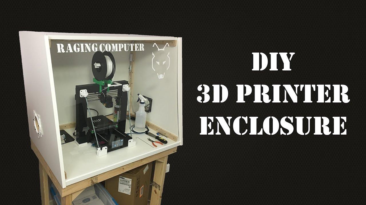DIY 3D Printer Enclosure – Single Sheet Melamine – Raging