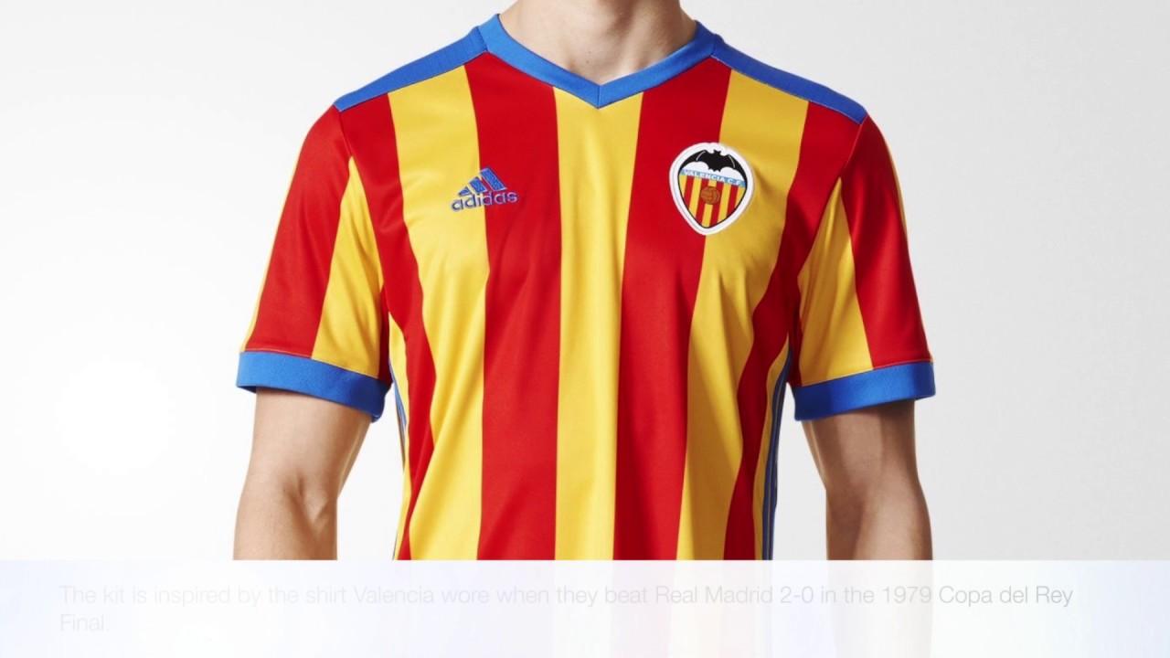 reputable site e0ea1 d4c04 adidas Valencia 2017/2018 Away Jersey