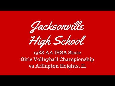 1988 IHSA AA Volleyball Champs Jacksonville Illinois