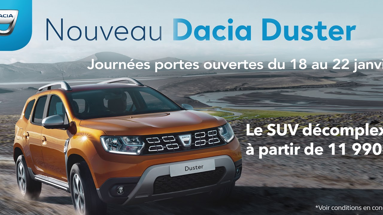 renault marignane nouveau dacia duster journ es portes ouvertes spot publicitaire abyxo. Black Bedroom Furniture Sets. Home Design Ideas